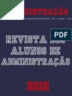 ADMINISTRAÇÃO 2012 Revista Dos Alunos