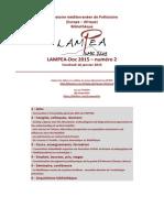 LAMPEA-Doc 2015 – numéro 2 / Vendredi 16 janvier 2015