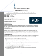 Fall 2014 NUR 230 Pharmacology Syllabus