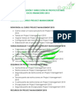 Temario Gestion Direccion de Proyectos Excel Financiero