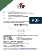 audition information grades 8-12