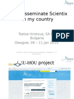 How I Disseminate Scientix in My Country