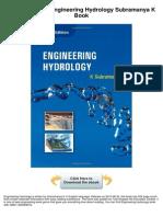 Engineering Hydrology Subramanya k