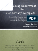 Training Department for the 21st Century Workplace