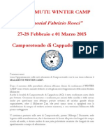 Presentazione 3° Winter Camp