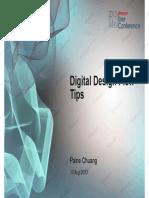 2 Digital Design Flow Tips