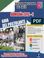 Prospecto Universidad Nacional de Jaen-Admision-2015-i