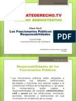 Administrativo 4. Los Funcionarios P+¦blicos y sus Responsabilidades 23-8-14