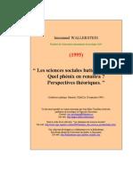Wallerstein - Les Sciences Sociales, Quel Phénix