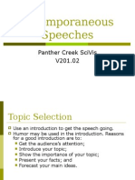 extemporaneous speeches