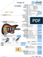 1964 Fender Bass VI parts list and wiring chart