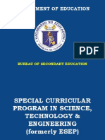 Special Curricular Program in Science Technology and Engineering (Ste)