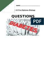 diatetes questions