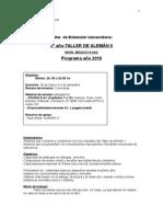 Programa Taller de Aleman 2 2010