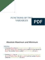 Extreme Values and Saddle Points