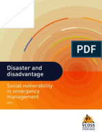 VCOSS Disadvantage and Disaster 2014