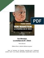 Von Manstein-Pierre Servent-Éditions Perrin