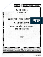 french horn Gedike-partitura