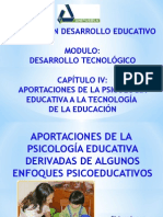 Aportaciones de La Psicología Educativa a La Tecnología de La Educación