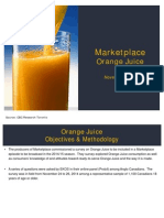 Marketplace Orange Juice Survey Findings
