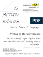 How to Learn 5 Languages @ Barnes Method English Metodo Barnes Ingles