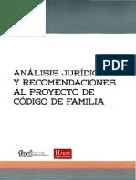 Analisis Juridico Al Código de La Familia de Nicaragua