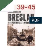 Les 80 Jours de Breslau-Jacques Bressler-Éditions Jourdan