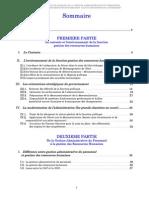 Démarche Pour Le Passage de La Gestion Administrative Du Personnel à La Gestion Des Ressources Humaines Cas Du Ministère de l'Intérieur