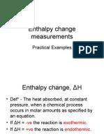 Enthalpy Change Measurements (2)