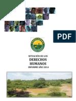 Informe Derechos Humanos Nordeste Antioqueño Año 2014