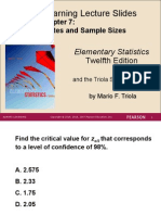 Chapter 7 Active Review Elementary Statistics