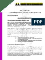 estatutosCDA Rayo Matapozuelos