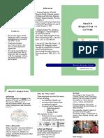 health disparities brochure