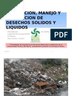 Generacion, Manejo y Disposicion de Desechos Solidos