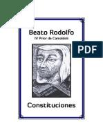 Beato Rodolfo Constituciones 1