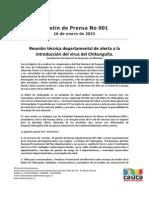 Boletín 001_ Reunión Técnica Departamental de Alerta a La Introducción Del Virus Del Chikunguña