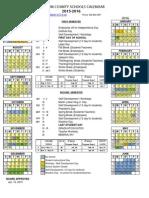 Madison County Schools 2015-2016 School Calendar