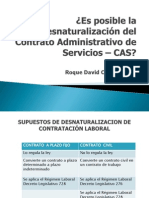 desnaturalización del contrato administrativo de servicios