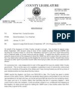 Donaldson Letter - RR Litigation Appeal