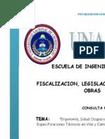 Ergonomia Salud Ocupacional Seguridad Industria Modelo de Contrato Especificaiones Tecnicas Ene Vias