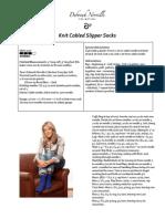 Knit Cabled Slipper Socks Pattern