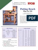 Shelf Potting Bench