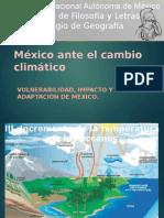 México Ante El Cambio Climático