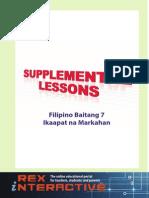 Supplemental Filipino High School Grade 7 4rth Q Ibong Adarna