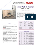 Planter Patio Wall Planter