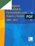 Plan Regional de Igualdad de Oportunidades 2009-2012