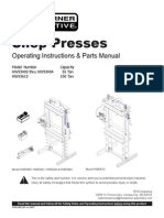 Hw Shop Press 55-100ton Owners Manual