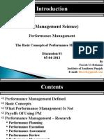 Performance Management Session 1