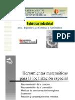 ROBOTICA INDUSTRIAL HERRAMIENTAS MATEMÁTICAS PARA LA LOCALIZACIÓN INDUSTRIAL