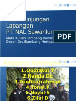 Hasil Kunjungan Lapangan PT NAL Sawalunto
